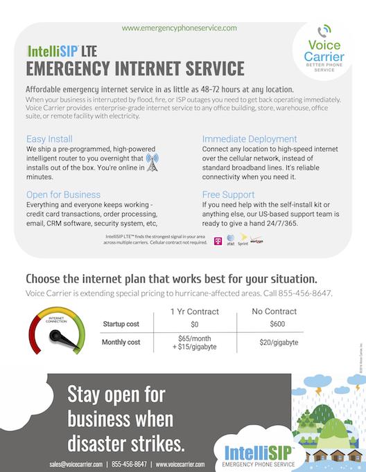 Emergency Internet Service