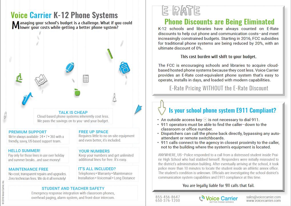 K-12 Telecommunication System