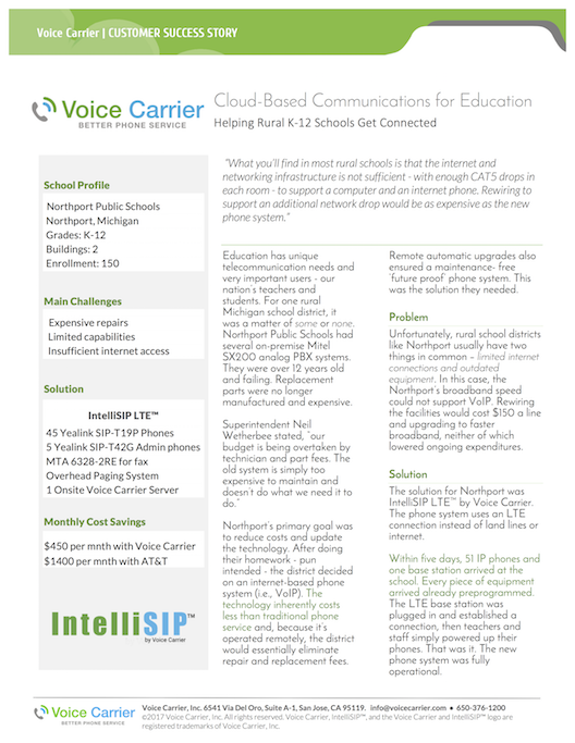 Product Sheets - Voice Carrier | Business Phone Service